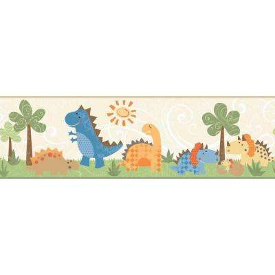 Inspired By Color Babysaurus Wallpaper Border