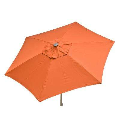 8.5 ft. Aluminum Manual Push-Up Tilt Patio Umbrella in Rust Polyester