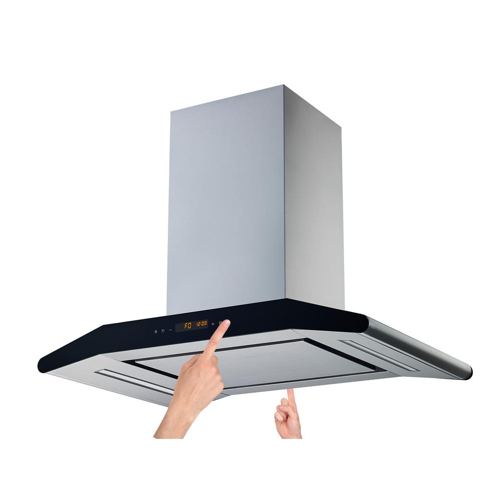 30 in. Convertible Island Range Hood in Stainless Steel with Silencer