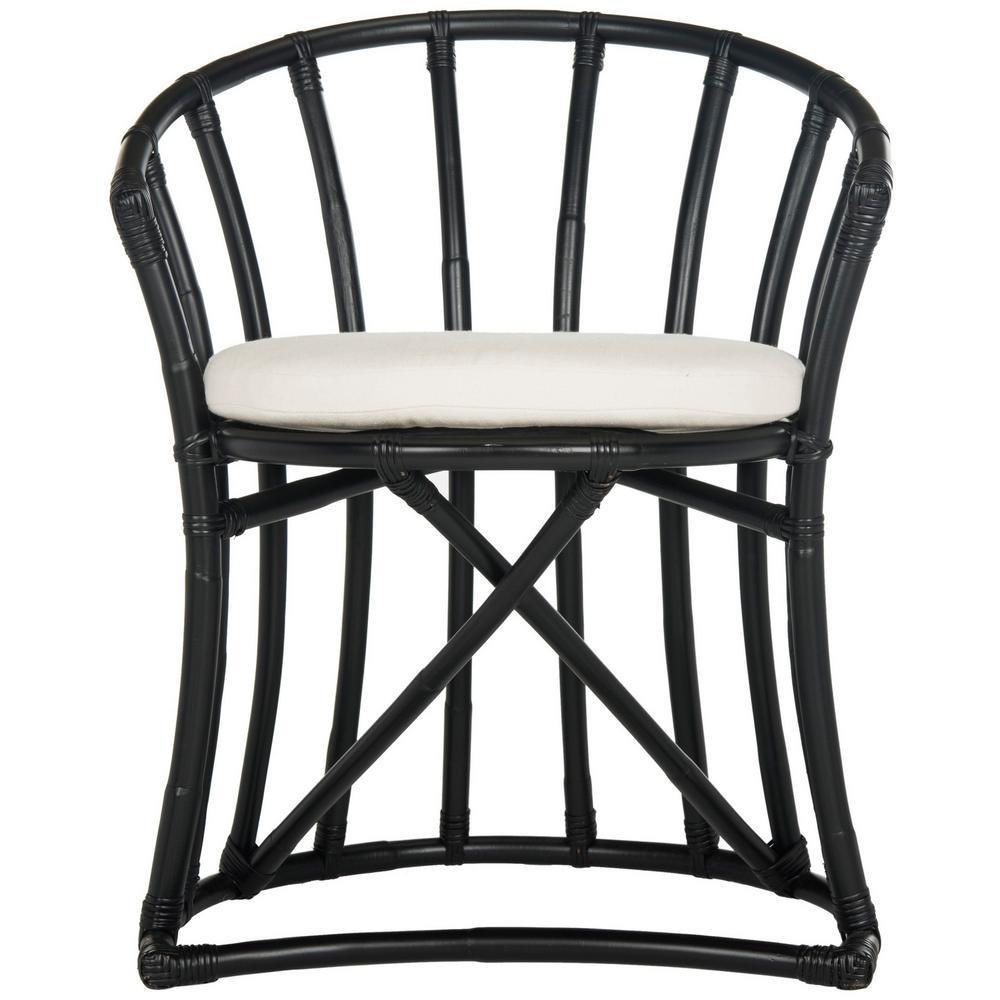 Bates Black/White Accent Chair