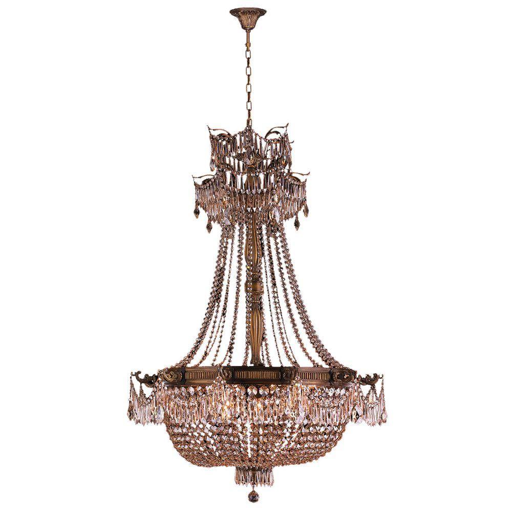 Worldwide lighting winchester 12 light antique bronze and golden worldwide lighting winchester 12 light antique bronze and golden teak crystal chandelier arubaitofo Choice Image