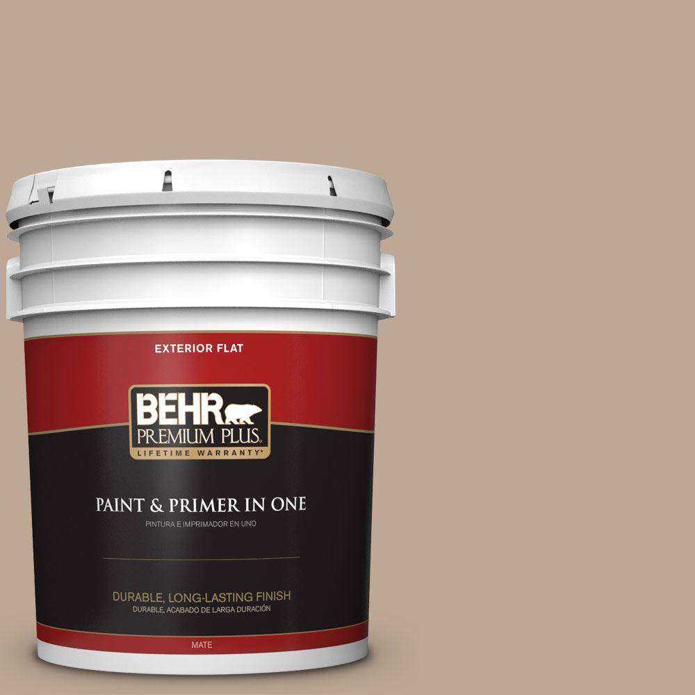 5-gal. #700D-4 Brown Teepee Flat Exterior Paint