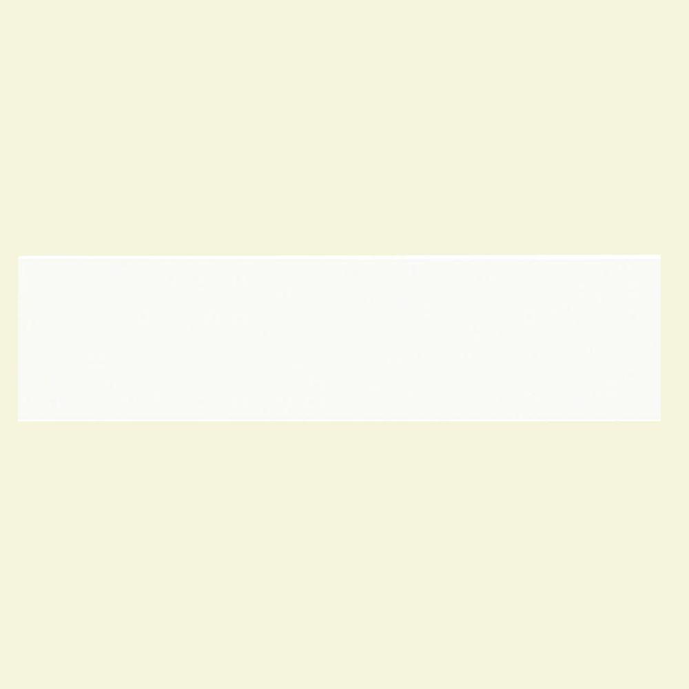 Daltile Lillis Matte White 4 in. x 16 in. Glazed Ceramic Wall Tile (11.1 sq. ft. / case)