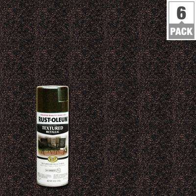 12 oz. Textured Metallic Mystic Brown Protective Spray Paint (6-Pack)