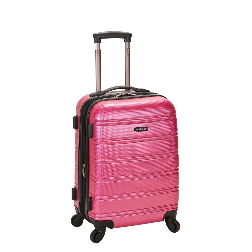 Rockland Melbourne 20 in. Expandable Carry on Hardside Spinner Luggage, Pink was $120.0 now $58.8 (51.0% off)