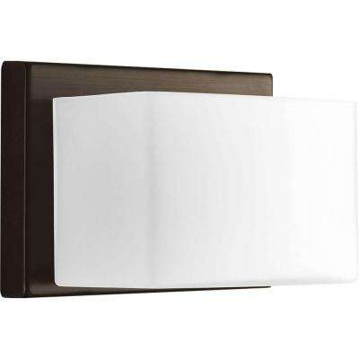 Ace Collection 1-Light Antique Bronze LED Bath Sconce with Frosted Glass Shade
