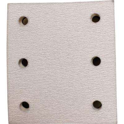 4 in. x 4-1/2 in. 240-Grit Hook and Loop Abrasive Paper (5-Pack) compatible with 1/4 Sheet Finishing Sanders