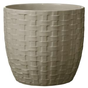 Kiruna 6 in. Dia Light Gray Ceramic Planter