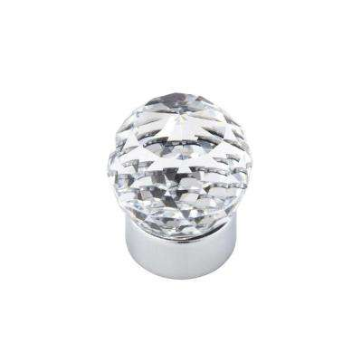 Swarovski Crystal Collection 1 in. Round Chrome/Crystal Cabinet Knob
