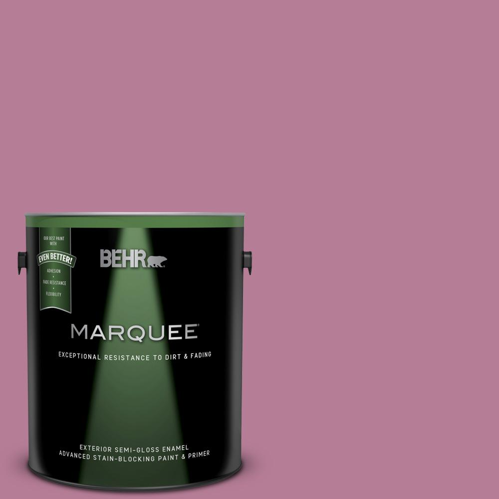 Behr Marquee 1 Gal M130 5 Cabaret Semi Gloss Enamel Exterior Paint And Primer In One 545401 The Home Depot