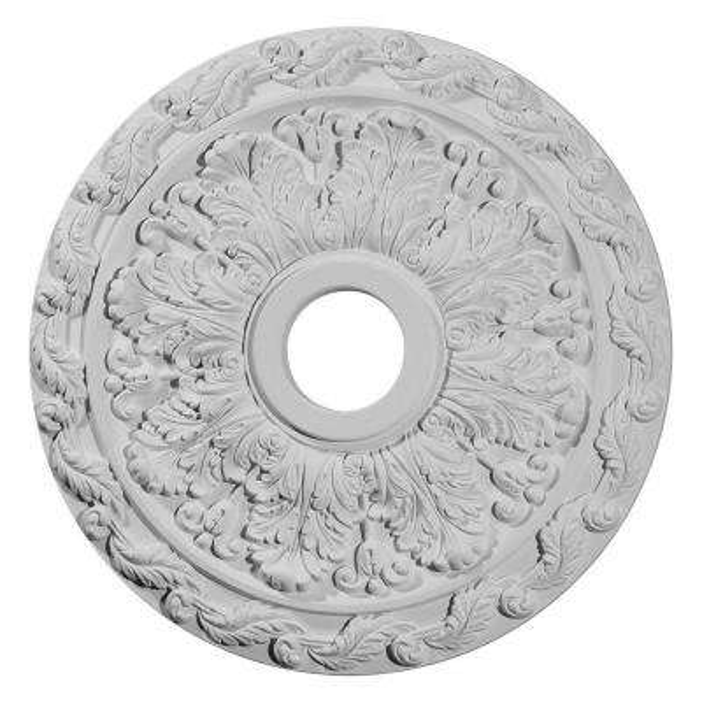 19-7/8 in. O.D. x 3-5/8 in. I.D. x 1-1/4 in. P Spring Leaf Ceiling Medallion
