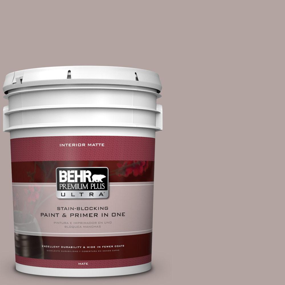BEHR Premium Plus Ultra 5 gal. #780B-4 Slate Pebble Flat/Matte Interior Paint