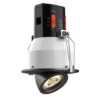 Premium Downlight 4in. Dark Bronze Integrated LED Recessed Gimbal Kit