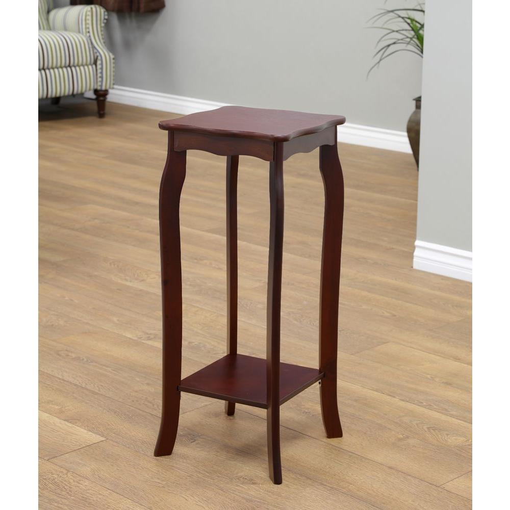 Megahome walnut indoor plant stand