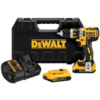 20-Volt MAX Lithium-Ion Cordless Brushless Compact Hammer Drill Kit