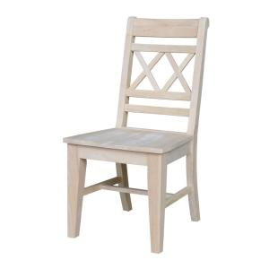 Incroyable Canyon Unfinished Wood Double X Back Dining Chair (Set Of 2)