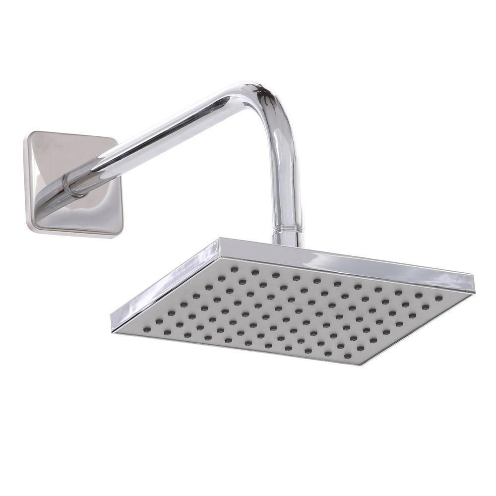 Glacier Bay 1-Spray 8 x 6 in. Rectangular Showerhead in Chrome
