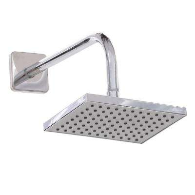 1-Spray 8 x 6 in. Rectangular Showerhead in Chrome