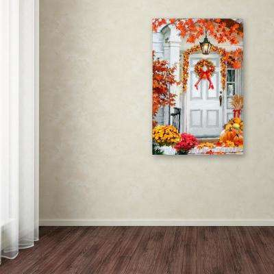 """24 in. x 16 in. """"Fall Decorations"""" by The Macneil Studio Printed Canvas Wall Art"""