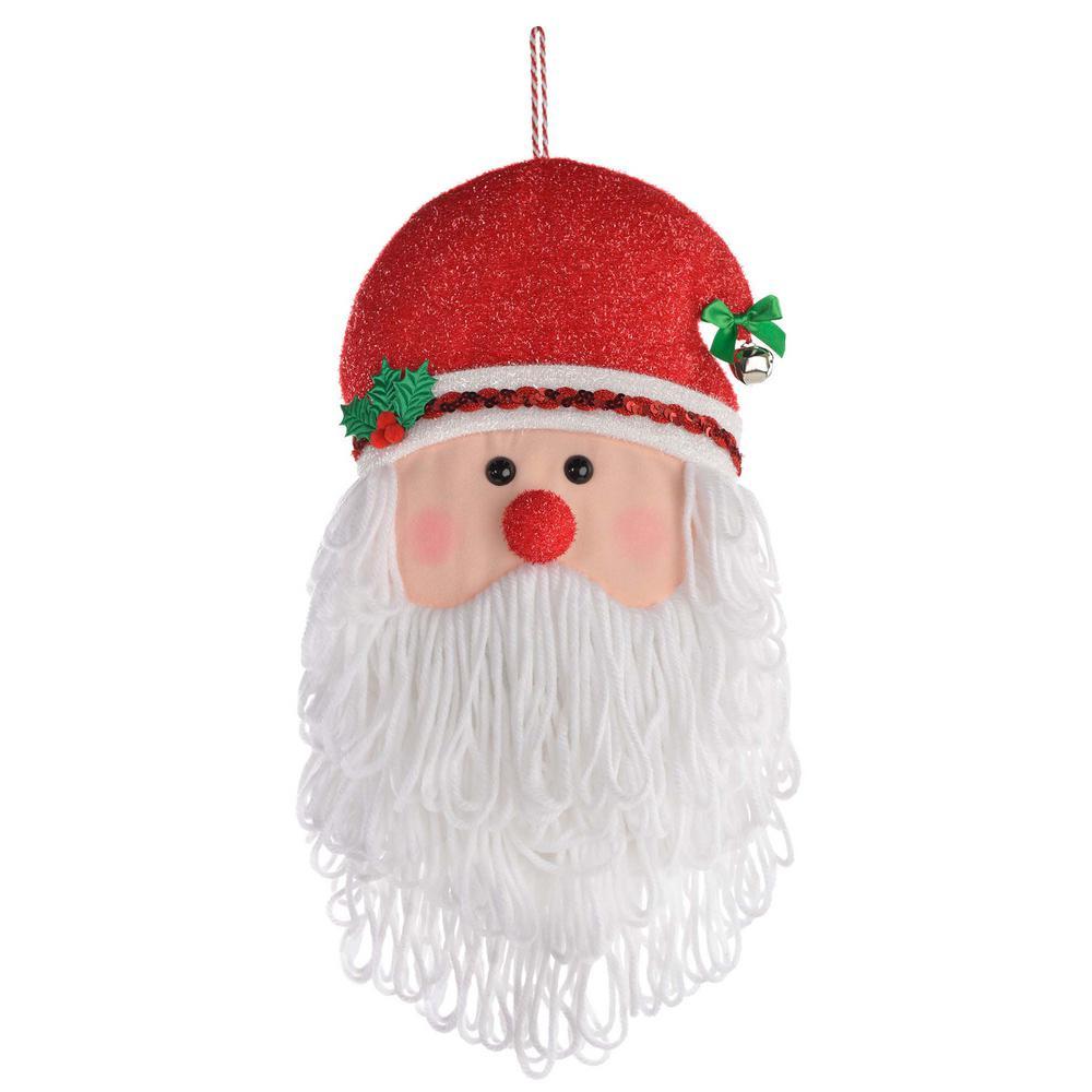 AMSCAN 21 in. x 12 in. Christmas Santa Plush Door Hanger
