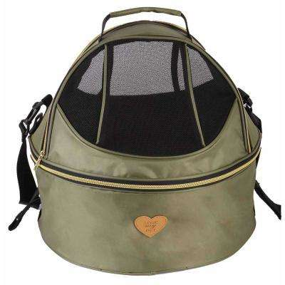 Air-Venture Dual-Zip Airline Approved Panoramic Pet Dog Carrier in Green