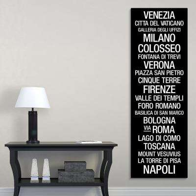 """""""Bus Roll: Cities of Italy"""" by Kate Lillyson Canvas Wall Art"""