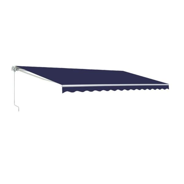 13 ft. Manual Patio Retractable Awning (96 in. Projection) in Solid Blue