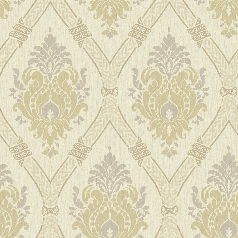 Global Chic Dressed Up Damask Wallpaper