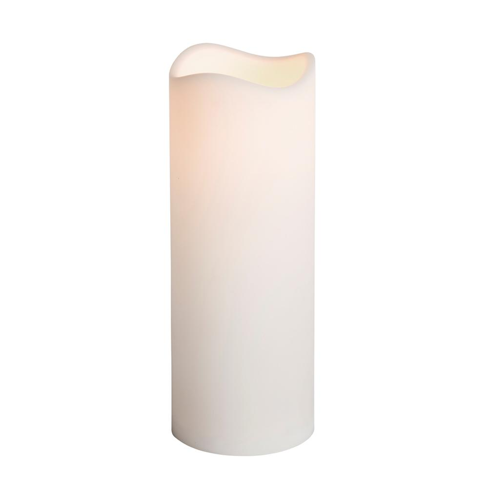 Hampton Bay 3 in. x 8 in. Remote Ready Battery Operated Resin LED Outdoor Candle