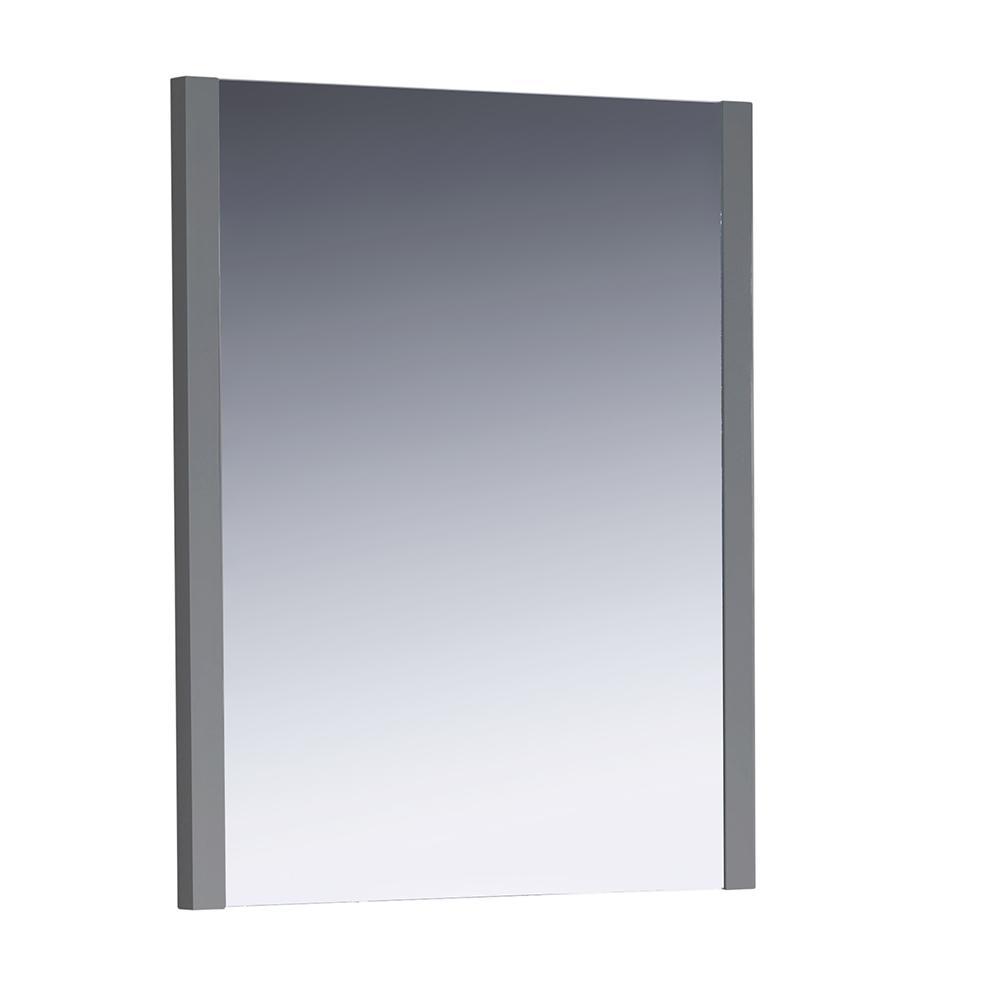 Fresca Torino 25.50 in. W x 31.50 in. H Side Framed Wall Mirror in Gray