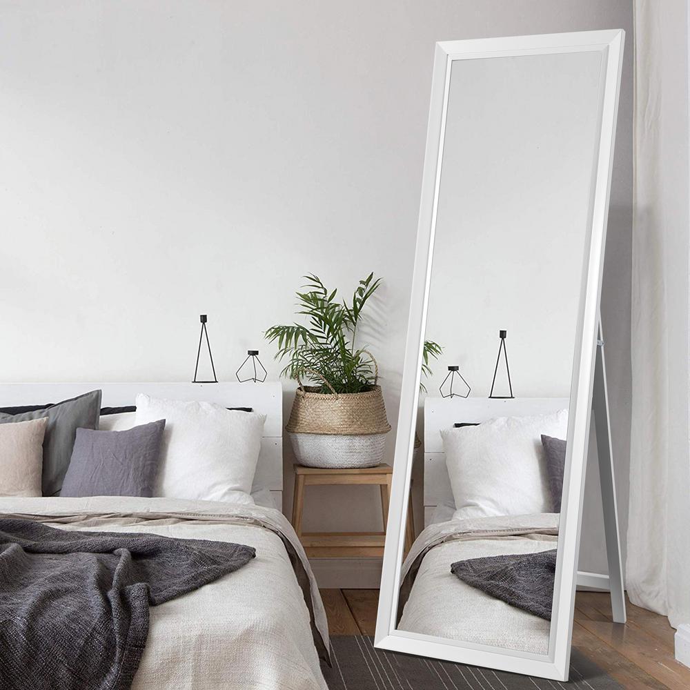 64 in. x 21 in. Classic Rectangle Framed Full Length Floor Standing Mirror