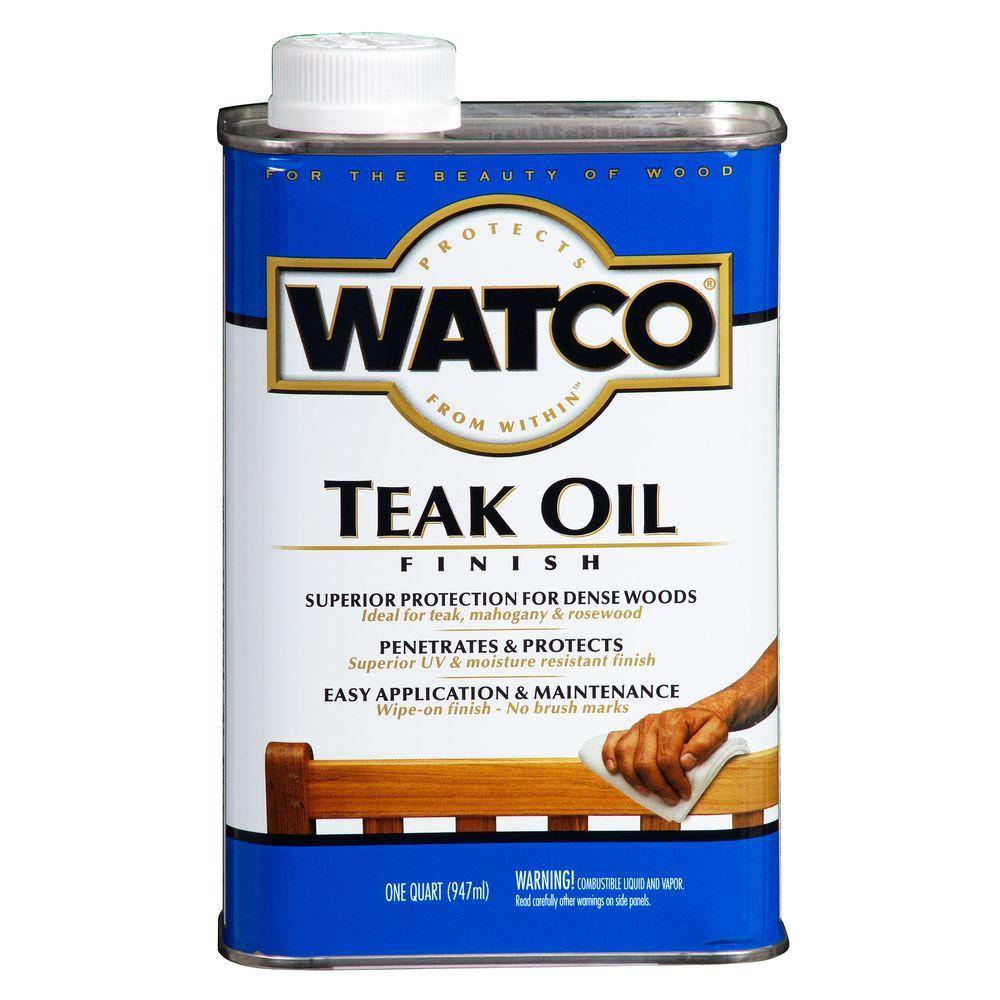 1 qt. Clear Matte Teak Oil (4-Pack)