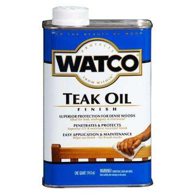 1 qt. Clear Matte Teak Oil (4-Pack)