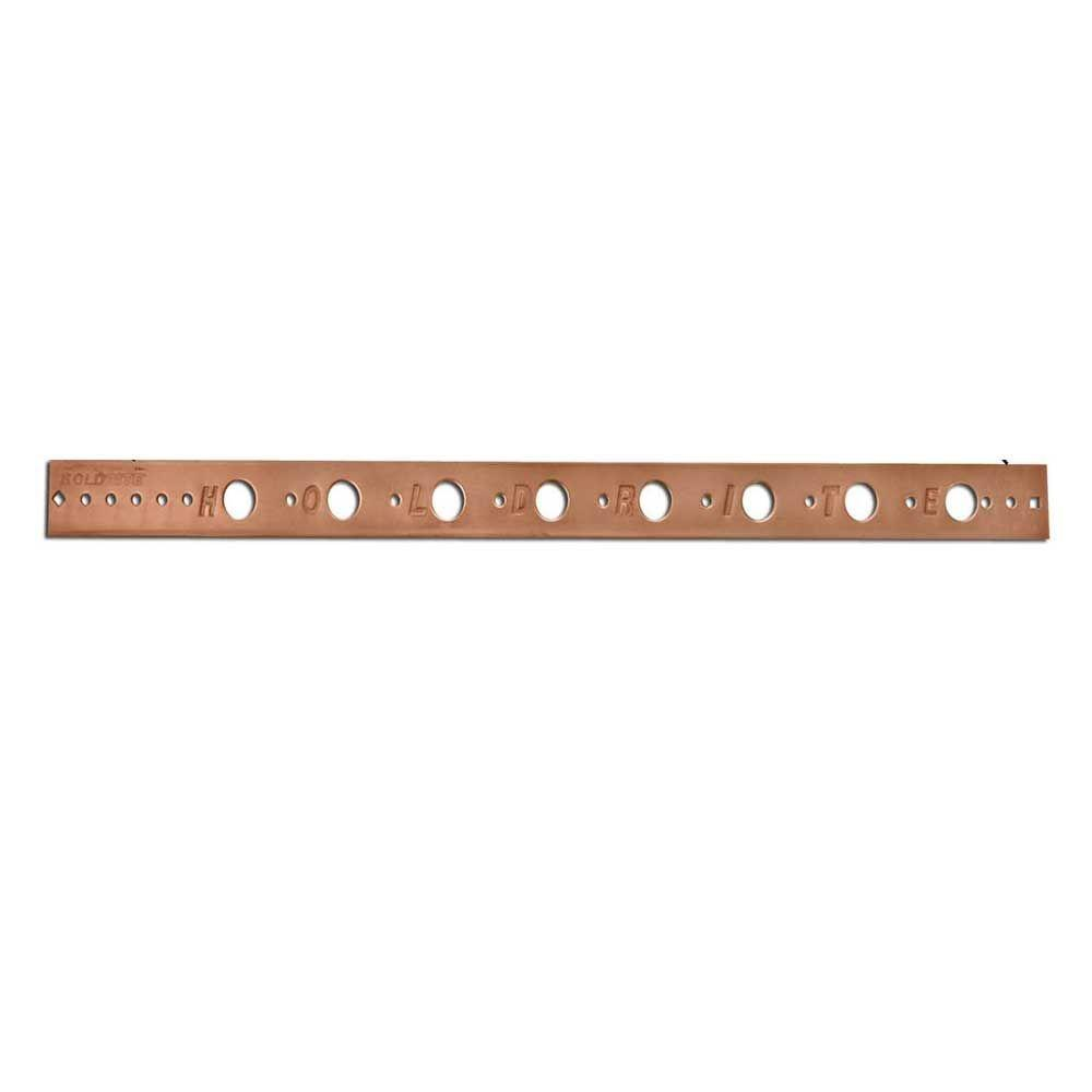 26 in. Flat Copper-Bonded Bracket for 1/2 in. Pipe (Box of