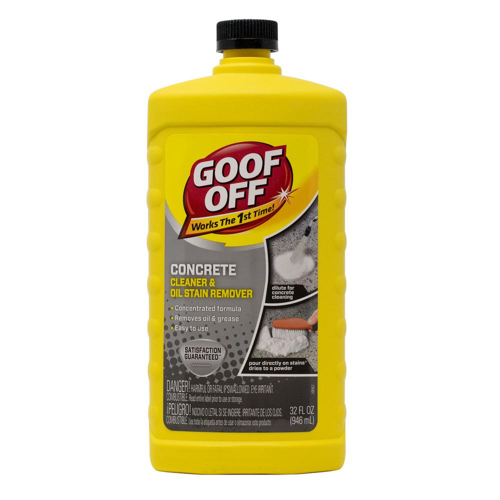 Goof Off 32 Oz Concrete Cleaner And Oil Stain Remover Fg820 The