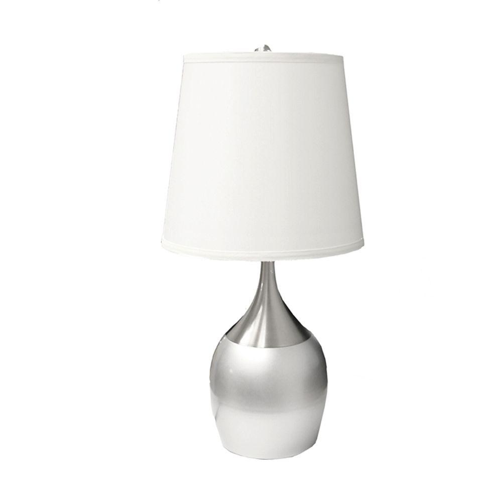 Touch sensor table lamps lamps the home depot silver touch on table lamp aloadofball Images