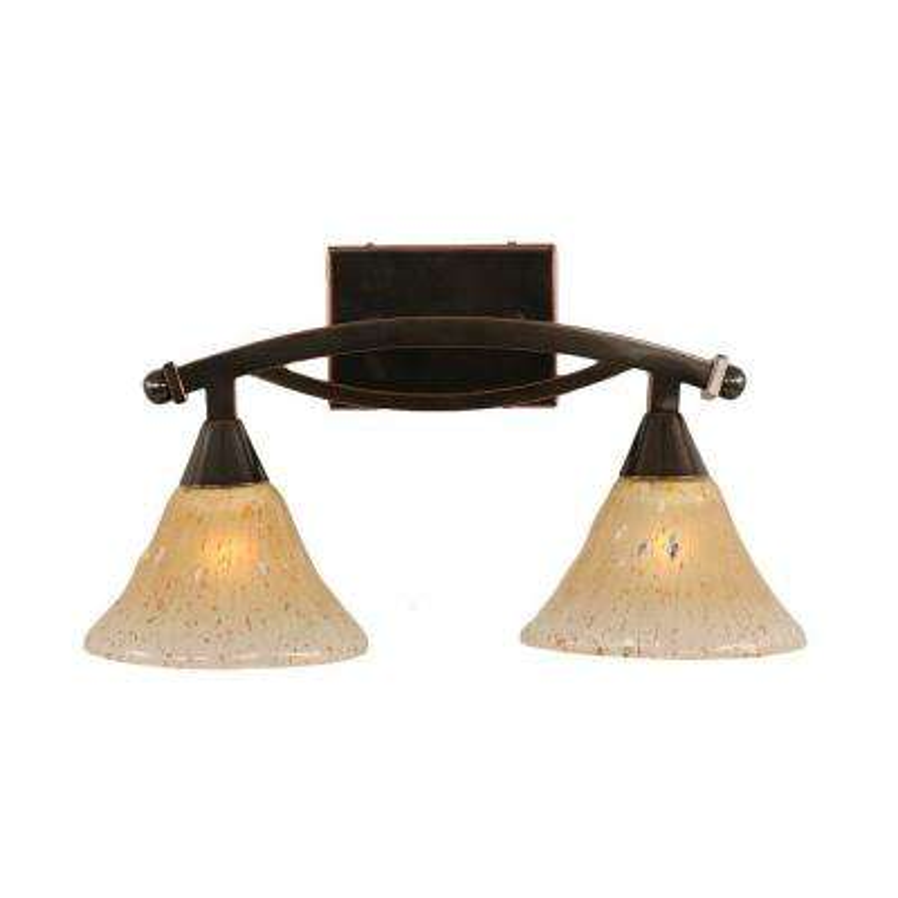 Concord 2-Light Black Copper Bath Vanity Light