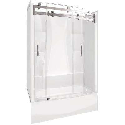 Classic 400 Curve 30 in. x 60 in. x 78 in. Standard Fit Bath and Shower Kit with Right Hand Drain in White