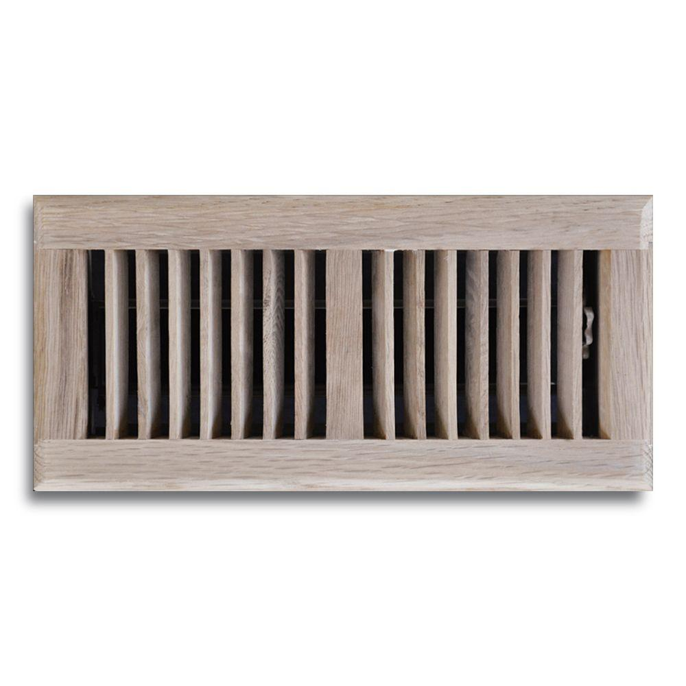 T.A. Industries T.A. Industries 4 in. x 12 in. Oak Floor Diffuser, Brown