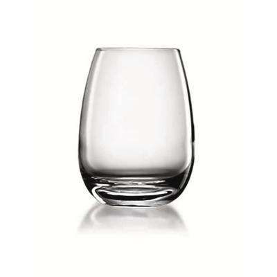Michelangelo Masterpiece 15.5 fl. oz. Lead-Free Ultra Clear Glass Stemless Wine Glass (4-Pack)