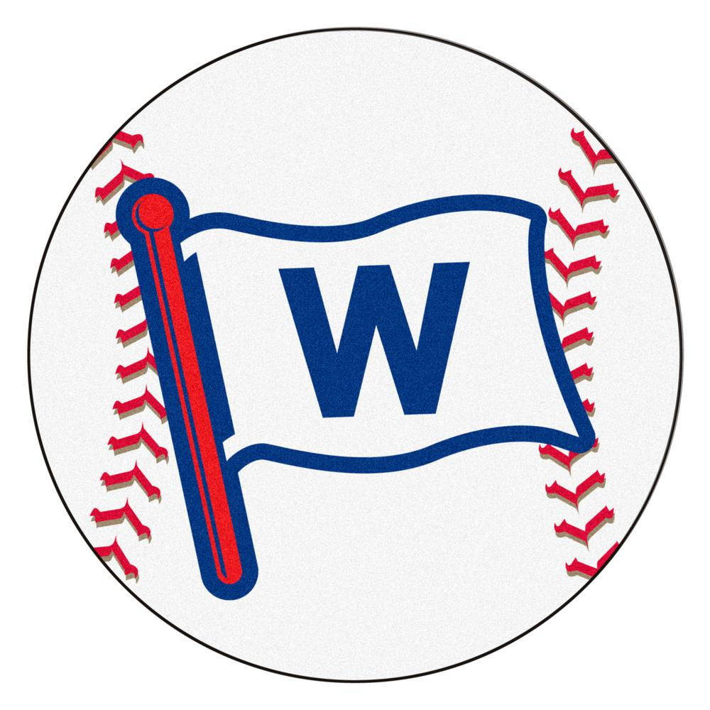 Chicago Cubs 27 In. Round Baseball Mat Area