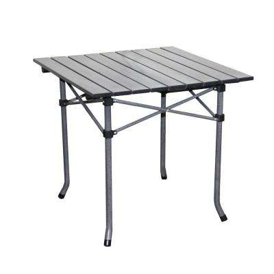 19.75 in. H x 21 in. L Aluminum Roll Slate Dove Gray Kid's Table
