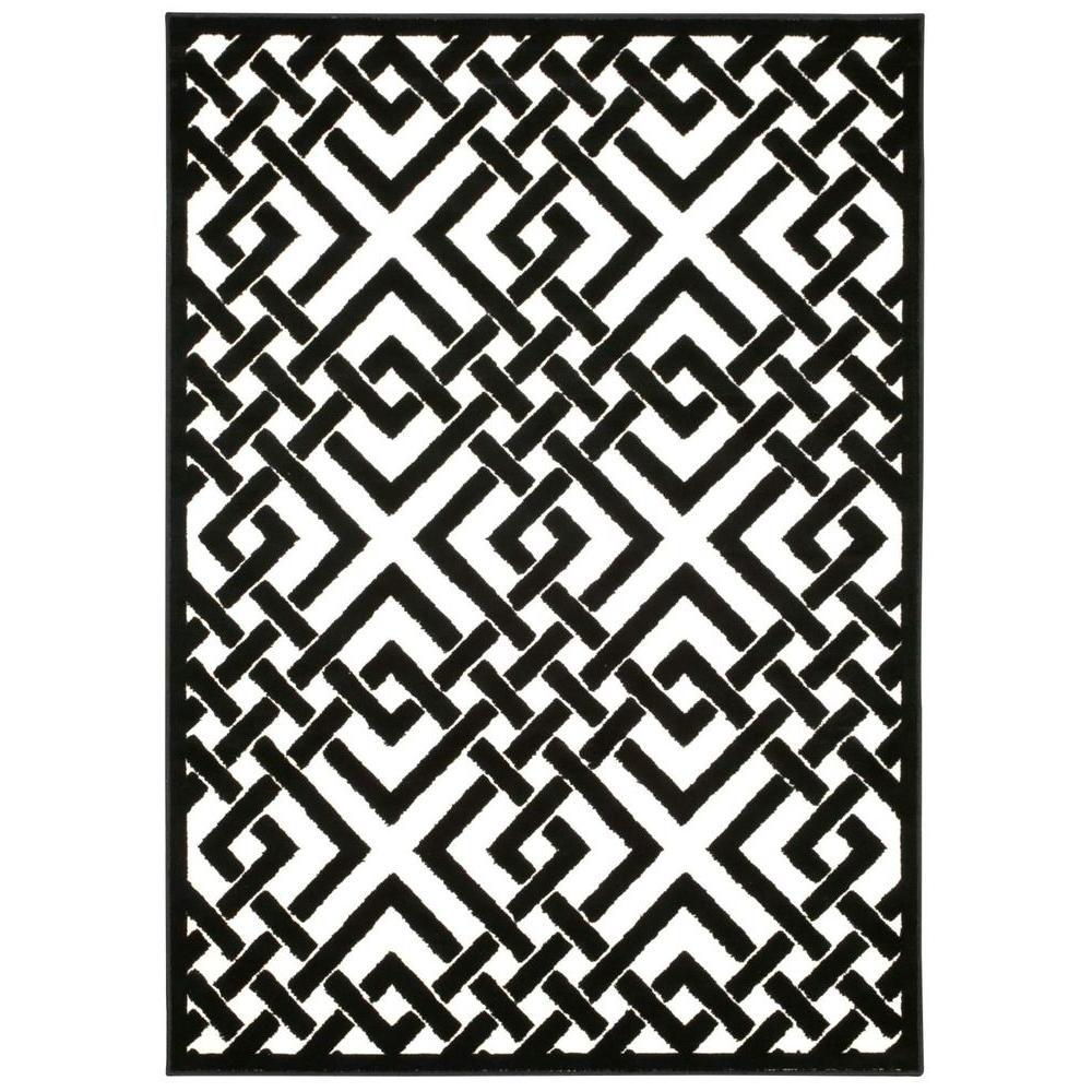 Ultima Ivory/Black 7 ft. 6 in. x 9 ft. 6 in.