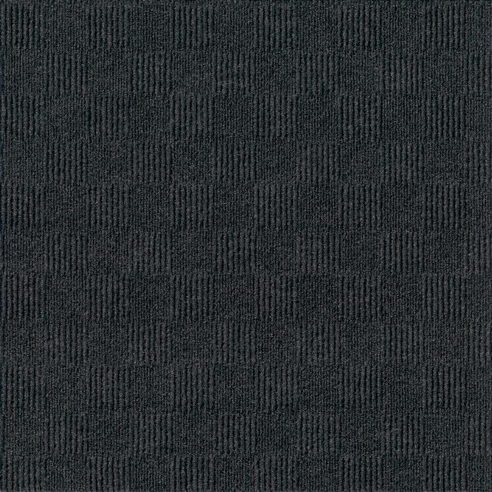 Foss First Impressions City Block Blk Ice 24 in. x 24 in. Commercial Peel and Stick Carpet Tile (15-tile / case)