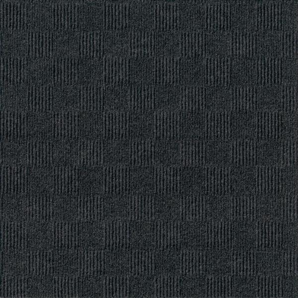 First Impressions City Block Blk Ice 24 in. x 24 in. Commercial Peel and Stick Carpet Tile (15-tile / case)