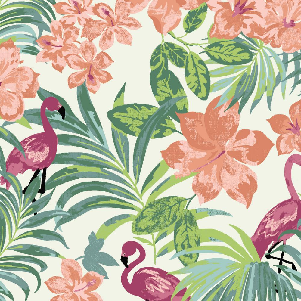 Luau Flamingo Tropical Outdoor Fabric by The Yard
