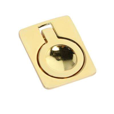 Utopia Alley Kent Drop Ring Cabinet Pull, Polished Gold, 1.6""