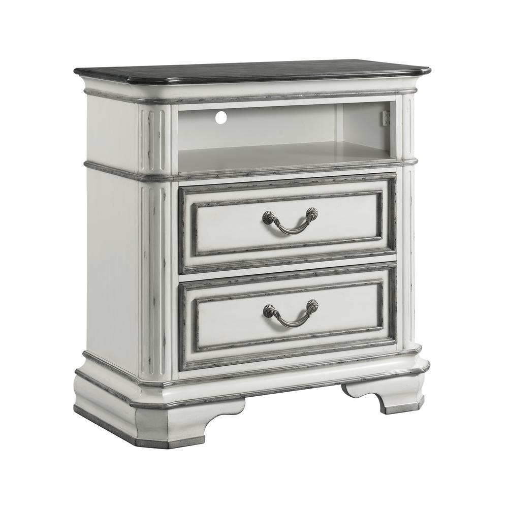 Picket House Furnishings Caroline Antique White 2 Drawer Media Chest