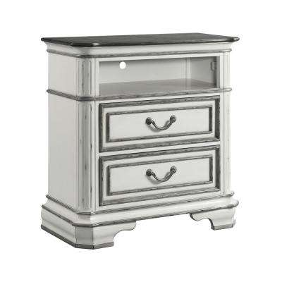 Caroline Antique White 2-Drawer Media Chest
