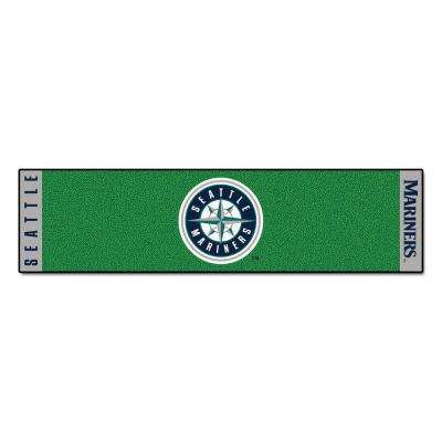 MLB Seattle Mariners 1 ft. 6 in. x 6 ft. Indoor 1-Hole Golf Practice Putting Green